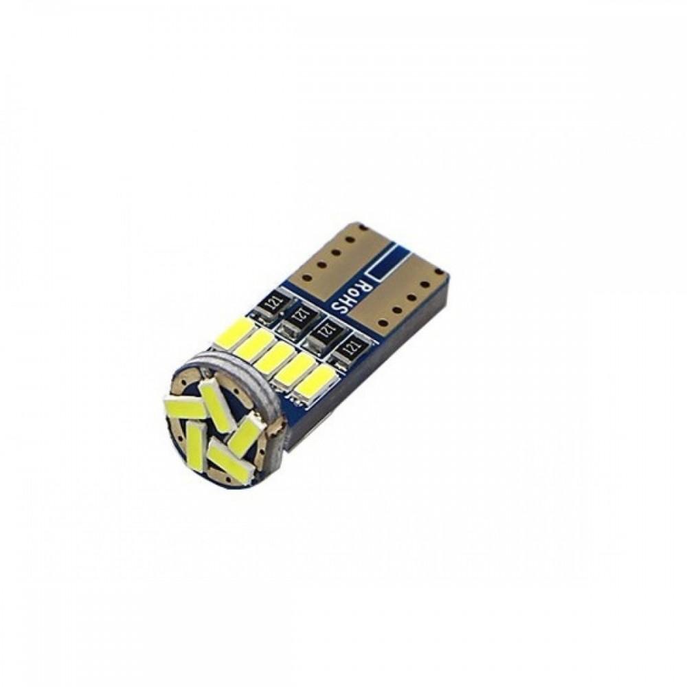 T10 CANBUS 12V 14 SMD LED W5W πορτοκαλί OEM 1τεμ
