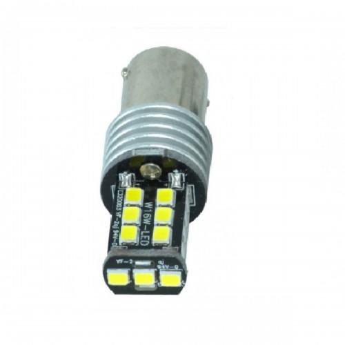 Διπολική λάμπα LED 1157 2835 15 SMD BA15S γαλάζιο 1 τεμ. OEM