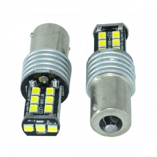 Μονοπολική λάμπα LED Canbus 1156 2835 15 SMD γαλάζιο 1 τεμ. OEM
