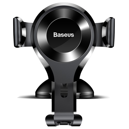 Baseus Gravitational Linkage 360 Degree Rotation Suction Dashboard Car Stand black Auto - Moto