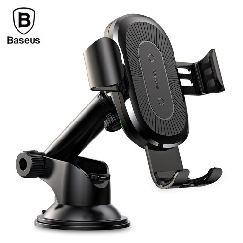 Baseus WXYL-A01 Sucker Gravity Car Mount Phone Holder Wireless Charger black
