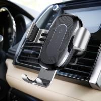 Baseus WXYL-0S Wireless Fast Charger Gravity Car Mount SILVER Auto - Moto