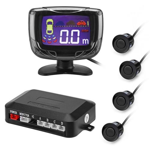 PZ500 LCD Car Parking Sensor Backup Reverse Rear View Radar Alert Alarm System with 4 Sensors  αισθητήρες παρκαρίσματος με οθόνη Auto - Moto