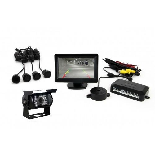 Parking Sensor and monitor and camera  (Αισθητήρες Παρκαρίσματος με οθόνη και κάμερα) για φορτηγό 24V pz609 OEM
