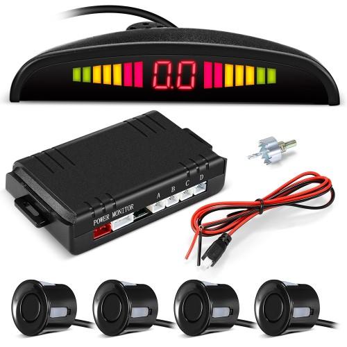 ZEEPIN 068 - B05 Car Parking Radar System 4 Ultrasonic Sensors LED Display Distance Detection 3-color / Sound Warning