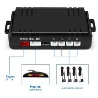 ZEEPIN 068 - B05 Car Parking Radar System 4 Ultrasonic Sensors LED Display Distance Detection 3-color / Sound Warning Αυτοκίνητο