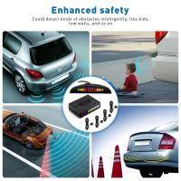 ZEEPIN 068 - 9850 Car Parking Radar System 4 Ultrasonic Sensors LED Display Distance Detection 3-color / Sound Warning Auto - Moto