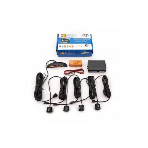 Αισθητήρες παρκαρίσματος 4Χ – Μαύρο – Assistant Parking Sensors – Screen & Sound – 078557-2