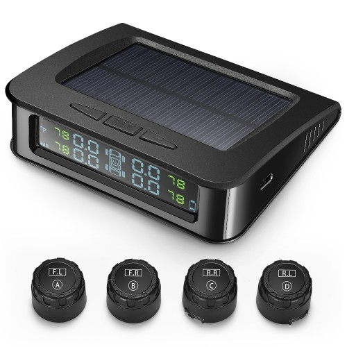 ZEEPIN C220 Tyre Pressure Monitoring System Solar TPMS with 4 External Sensors
