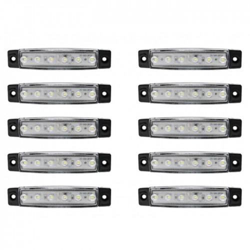 Φώτα όγκου LED με 6 SMD DC 24V 2W λευκού χρώματος για φορτηγό σετ 10 τεμ. IP66 OEM