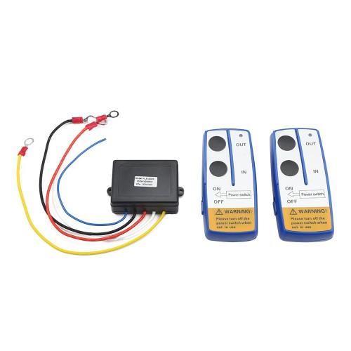Ασύρματο κοντρόλ (2)  για εργάτη (βίντσι) αυτοκινήτου KLS - 203 - 2 Wireless Winch Electric Remote Control Anti-interference Twin Handset