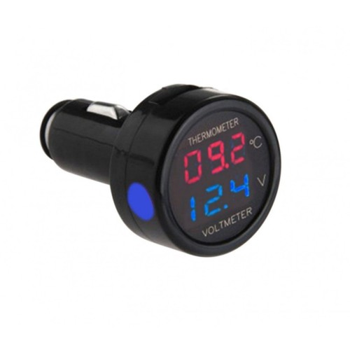 9893effba9 Θερμόμετρο   Βολτόμετρο Ψηφιακό Αυτοκινήτου