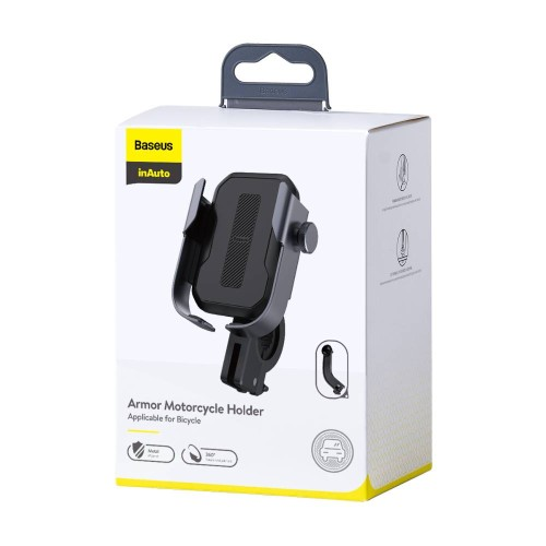 Baseus Motorcycle Armor phone holder (Applicable for bicycle) Black (SUKJA-01)