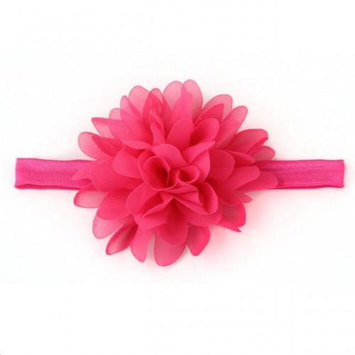 Βρεφική κορδέλα φούξια λουλούδι