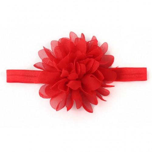 Βρεφική κορδέλα κόκκινο λουλούδι