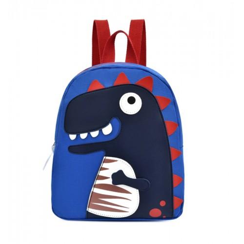 Βρεφική Τσάντα Πλάτης μπλε δεινοσαυράκι AS19430