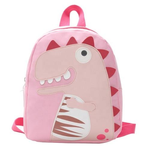 Βρεφική Τσάντα Πλάτης ροζ δεινοσαυράκι AS19431