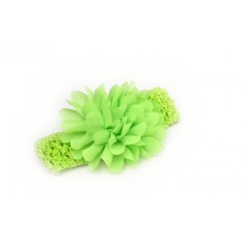 Βρεφική κορδέλα Λαχανί Charming Girl Child Flower Floral Shape Chiffon Knitting Elastic Headwear Headband