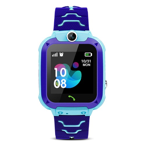 A013B Child Smart Watch Agps Lbs Position Monitor Sos Kids Smartwatch with Camera SIM Card BLUE