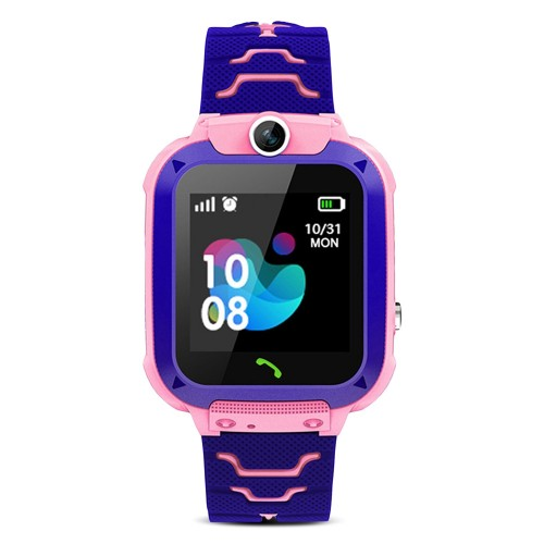 A013B Child Smart Watch Agps Lbs Position Monitor Sos Kids Smartwatch with Camera SIM Card PINK