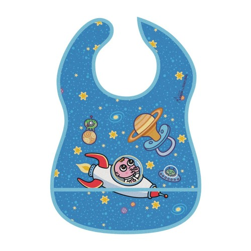 LAKEN Astro Baby Αδιάβροχη Σαλιάρα με Θήκη
