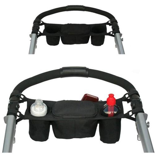 Convenient Practical Black Stroller Organizer Storage Cup Bag for Babies OEM