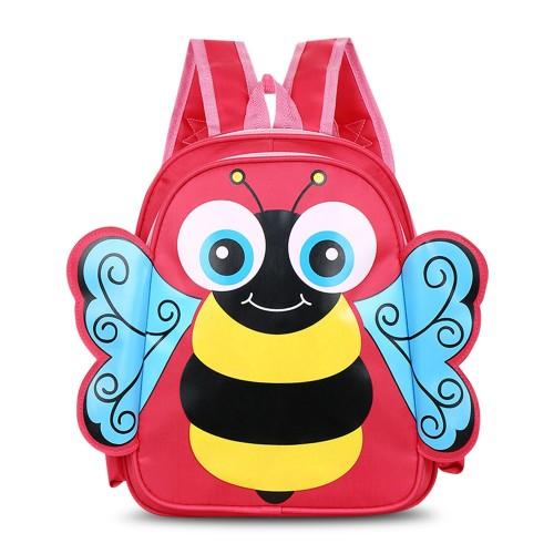 Παιδική τσάντα νηπιαγωγείου μέλισσα  ροζ-κόκκινο I091 Παιδικά - Βρεφικά