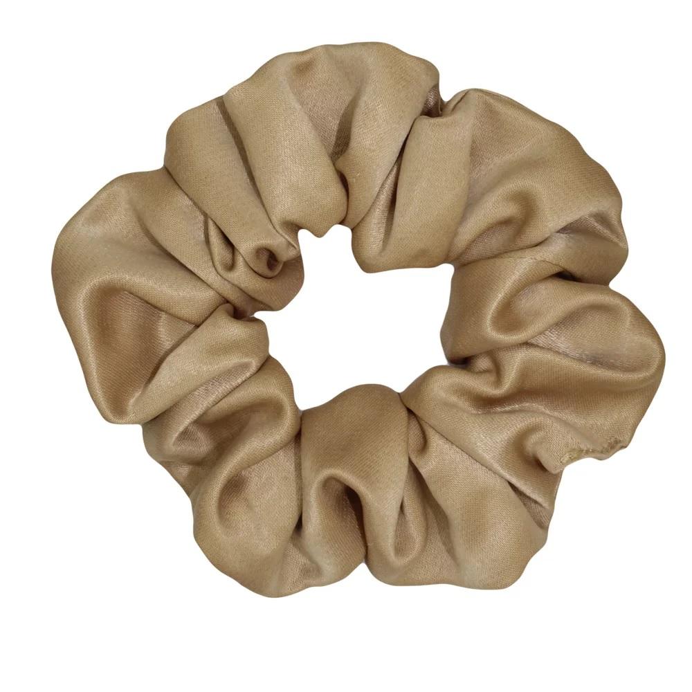 Χειροποίητο Χρυσό Σατέν Scrunchie Λαστιχάκι Μαλλιών