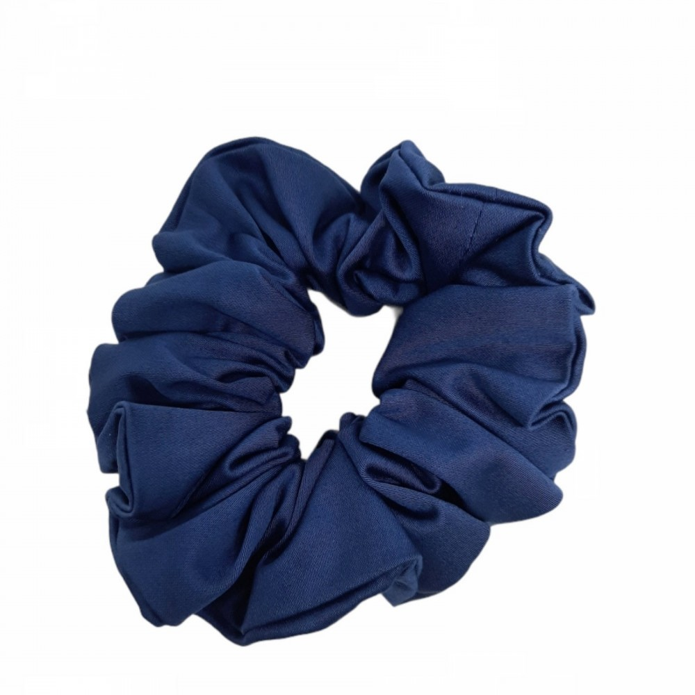 Scrunchie Λαστιχάκι Μαλλιών  Μπλε Σκούρο