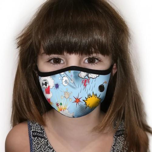 Kukuxumusu Επαναχρησιμοποιούμενη Παιδική Μάσκα WindFlap Explosion 6-9 Ετών