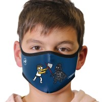 Kukuxumusu Επαναχρησιμοποιούμενη Παιδική Μάσκα Kukuxumusu Aizkogalaxia 6-9 Ετών Υγεία - Ομορφιά