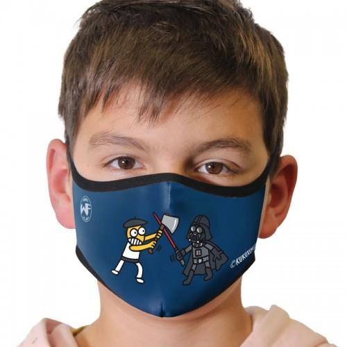 Kukuxumusu Επαναχρησιμοποιούμενη Παιδική Μάσκα Kukuxumusu Aizkogalaxia 6-9 Ετών