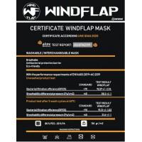 Kukuxumusu Επαναχρησιμοποιούμενη Παιδική Μάσκα WindFlap Rosa Δέσιμο Κεφάλι 6-9 Ετών Υγεία - Ομορφιά