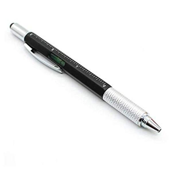 Στυλό Με Πενάκι Για Οθόνες Αφής, Χάρακα, Αλφάδι Και Κατσαβίδι Μαύρο