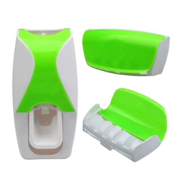 Θήκη Τοίχου Για 5 Οδοντόβουρτσες Και Αυτόματη Βάση Για Οδοντόκρεμα Awise Green