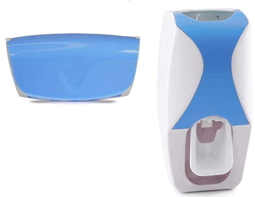 Θήκη Τοίχου Για 5 Οδοντόβουρτσες Και Αυτόματη Βάση Για Οδοντόκρεμα Light Blue